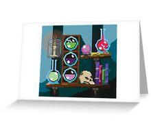 Wizards shelf Pixel Art Greeting Card