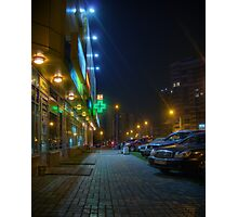 Night in Moscow - yellow store Photographic Print