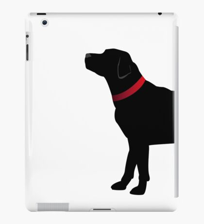Black Labrador with Red Collar iPad Case/Skin