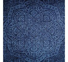 Mandala on Blue Jeans Photographic Print