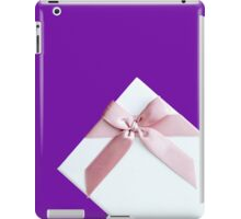 White Gift Box With Pink Bow iPad Case/Skin