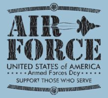 Armed Forces Day - USAF Air Force Black by andabelart