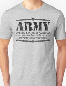 Armed Forces Day - Army Black T-Shirt