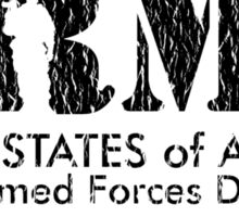 Armed Forces Day - Army Black Sticker