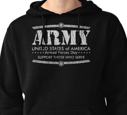 Armed Forces Day - Army White Pullover Hoodie