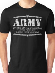 Armed Forces Day - Army White Unisex T-Shirt