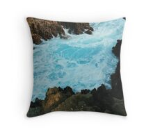 Waves Below Throw Pillow