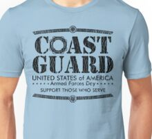 Armed Forces Day - Coast Guard Black Unisex T-Shirt