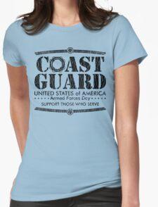 Armed Forces Day - Coast Guard Black Womens Fitted T-Shirt