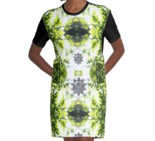 Greenery. Graphic T-Shirt Dress
