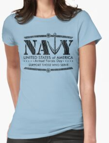 Armed Forces Day - Navy Black T-Shirt