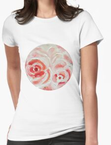 Peach Plums Womens Fitted T-Shirt