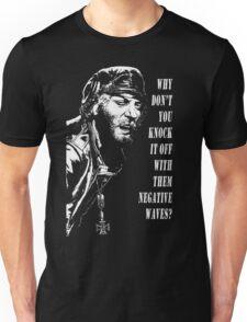 Oddball Says (white on black) Unisex T-Shirt