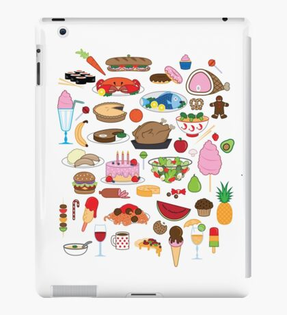 Food Glorious Food (white) iPad Case/Skin