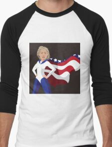 Hillary Clinton American superhero Men's Baseball ¾ T-Shirt