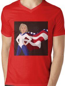 Hillary Clinton American superhero Mens V-Neck T-Shirt