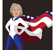 Hillary Clinton American superhero Photographic Print