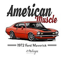 Ford Maverick (carroty) Photographic Print