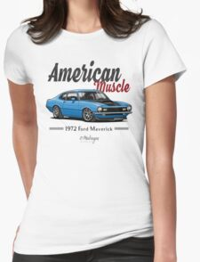 Ford Maverick (blue) Womens Fitted T-Shirt