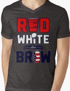 RED-WHITE & BREW Mens V-Neck T-Shirt