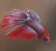 Sparky the Crowntail by izzycreates