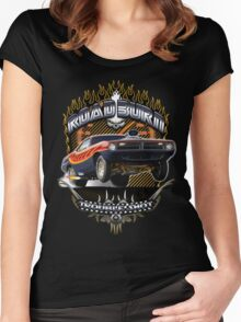 Muscle Car - Barracuda Road Burn Women's Fitted Scoop T-Shirt