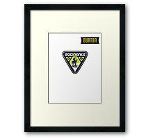 Rocinante Logo w/ Burton patch  Framed Print