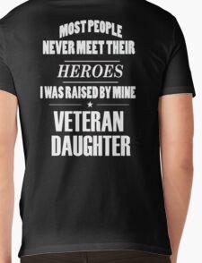 Veteran Daughter Mens V-Neck T-Shirt