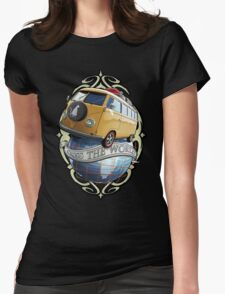 T1 Bus - Cross the World Womens Fitted T-Shirt