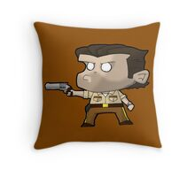 TWD Rick Grimes inspired chibi style (Alternative) Throw Pillow