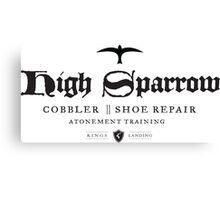 High Sparrow Cobbler Canvas Print