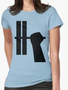 WORKOUT BAR SHIRT-BLACK Womens Fitted T-Shirt