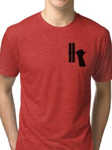 WORKOUT BAR - BLACK 2  Tri-blend T-Shirt