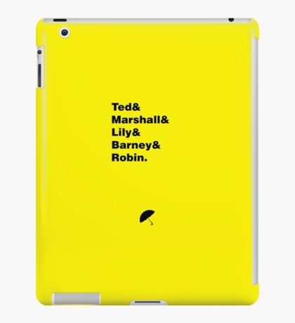 HIMYM Squad without Tracy iPad Case/Skin