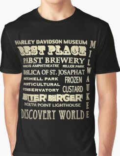 Milwaukee Wisconsin Famous Landmarks Graphic T-Shirt