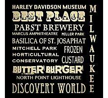 Milwaukee Wisconsin Famous Landmarks Photographic Print