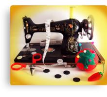 Vintage Mini Sewing Machine Canvas Print