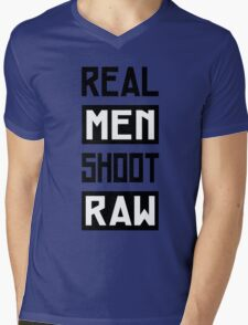 Photographer - Real Men Shoot Raw Mens V-Neck T-Shirt