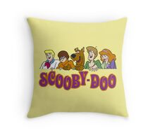 scooby doo be cool face Throw Pillow