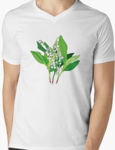 Lilly of the Valley Mens V-Neck T-Shirt