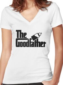 The Goodfather version 1 Women's Fitted V-Neck T-Shirt