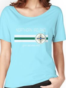 Euro 2016 Football - Northern Ireland (Green) Women's Relaxed Fit T-Shirt