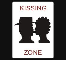Kissing Zone Sign, Warrington Bank Quay Station, UK One Piece - Short Sleeve