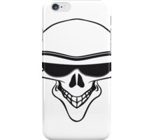Skull sunglasses funny iPhone Case/Skin