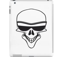 Skull sunglasses funny iPad Case/Skin