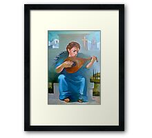 Angel of Recession on 5 FWY at Bandini Exit Framed Print