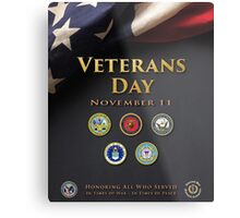 Veterans Day Armed Forces Poster Metal Print
