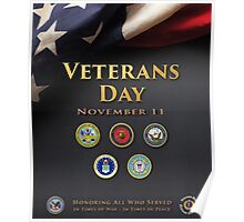 Veterans Day Armed Forces Poster Poster