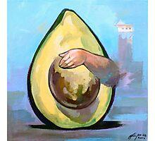 Avocado  | Vinyl paints on canvas Photographic Print
