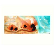 Summer Vacation Aqua Art Art Print